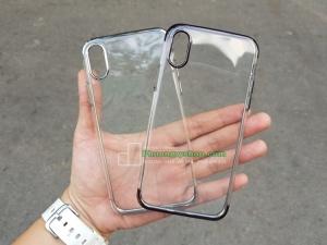 Ốp dẻo viền xi hiệu Baseus Shining Series iPhone X.